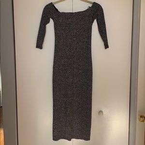 Zara Polka Dot Midi Dress